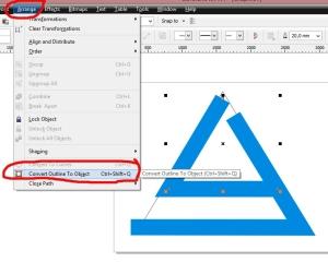belajar corel draw convert line L