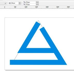 membuat logo denganc orel draw L J warna