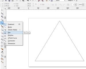membuat logo denganc orel draw pen tool
