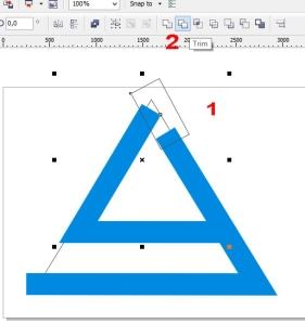 membuat logo denganc orel draw trim