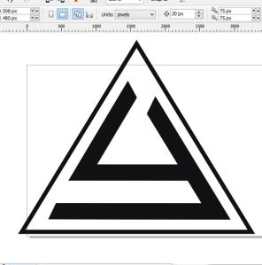 membuat logo denganc orel draw ubah warna